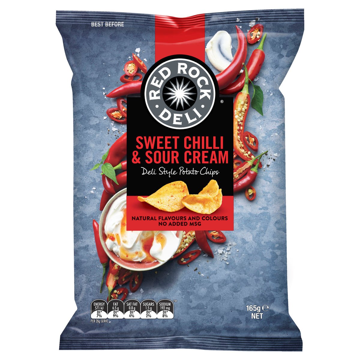 Red Rock Sweet Chilli & Sour Cream 165g