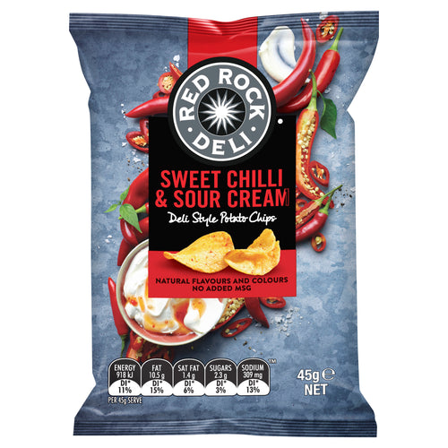 Red Rock Sweet Chilli & Sour Cream 45g