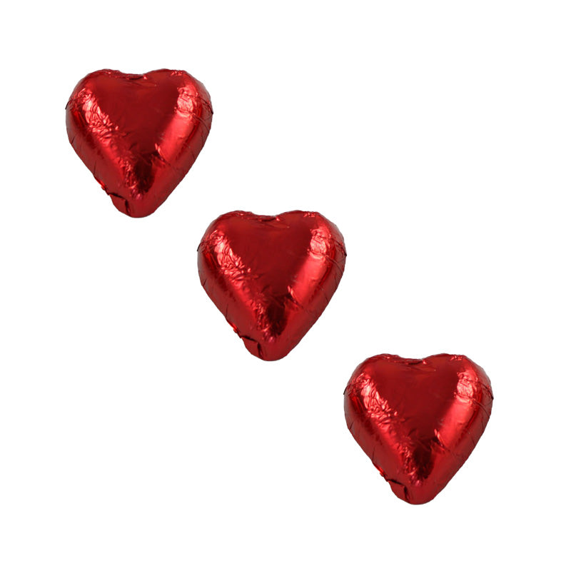 Chocolate Foil Hearts Red