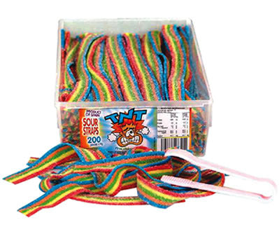 TNT Sour Straps Multicolor Approx 200 pcs