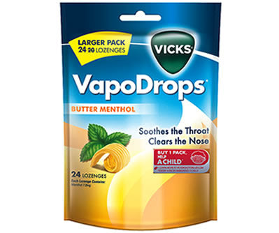 Vicks Vapo Drops Butter Menthol