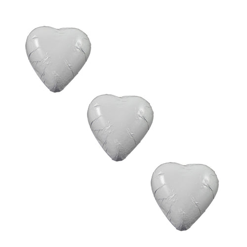Chocolate Foil Hearts White