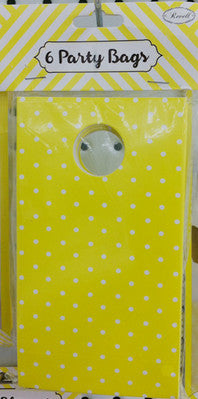 Party Bag Yellow 6pk