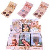 6 Color Matte Eye Shadow Palette The Nude Minerals and Glitter Eye shadow Make Up Palette