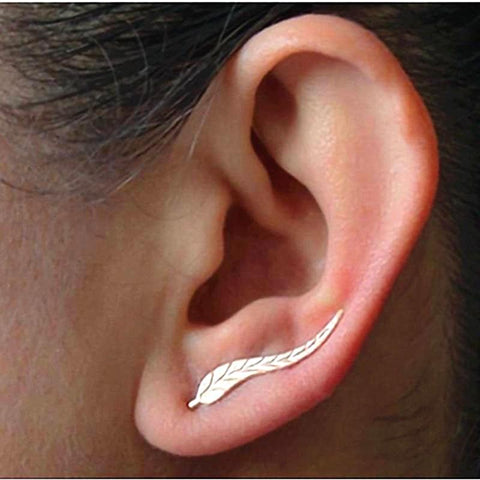 New Fashion Jewelry Leaf Stud Earrings For Women