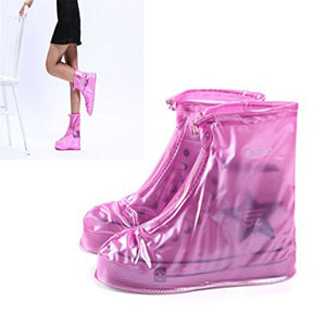 Waterproof Shoe Covers Adjustable Zippered Over Shoes Slip