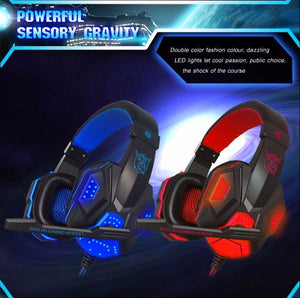 PLEXTONE Headset Subwoofer Stereo Bass Earbud Earphone Headphone with Mic Light USB for PC Gamer