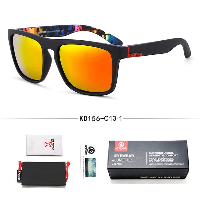 Fashion Guy's Sun Glasses From Kdeam Polarized Sunglasses  All-Fit Mirror With Box