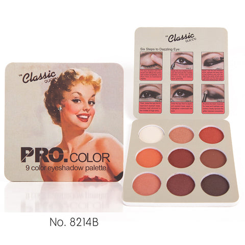 Makeup Palette Matte Eyeshadow Nude Vintage Mineral Powder Pigment Balm 9 Colors Professional Makeup Palette Eye Shadow Palette