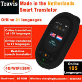 Travis Touch Two Way pocket voice translator 105 language interpreter online/offline