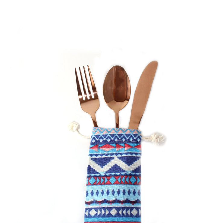 ROSE GOLD UTENSILS KIT