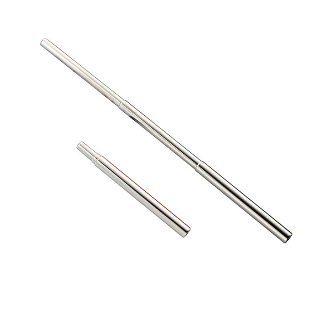 SILVER TELESCOPIC STRAW
