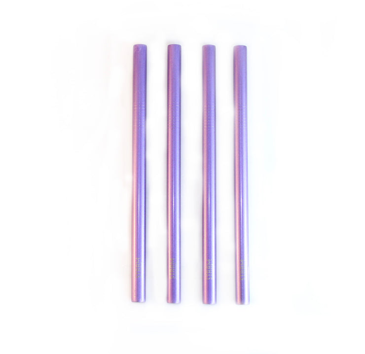 SHINNY PURPLE SMOOTHIE STRAWS KIT