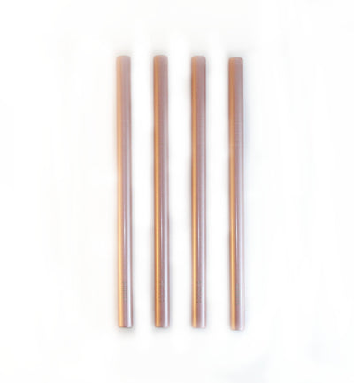 SHINNY ROSE GOLD SMOOTHIE STRAWS KIT