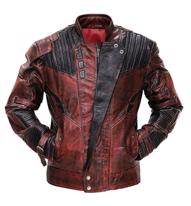 f9476082993 Star Lord Guardians of Galaxy 2 Chris Pratt Red Real Men Classic Leather  Jacket