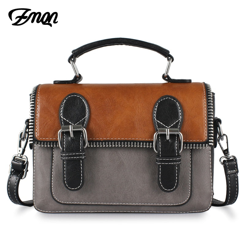 3ce1f535ac9a ZMQN Cheap Women Bags For Women 2018 Vintage Leather Crossbody Bag For Women  Messenger Bag Small