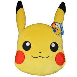 Pokemon Pikachu Head Shaped Plush Pillow