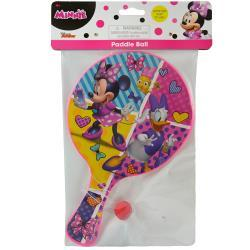 Minnie Deluxe Paddle Ball in bag and header