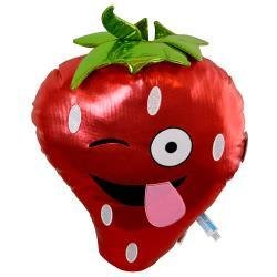 Emoji Strawberry Large Plush Pillow