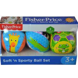 Fisher-Price 3pk Soft Sewn Balls