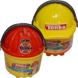 Tonka 3 in 1 Bucket of Blocks Assorted (Firefighter and Construction Hat)