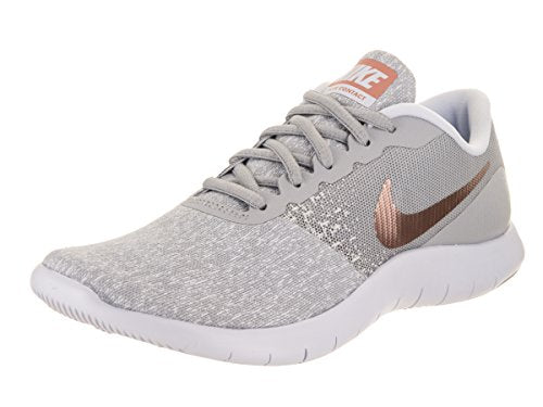 Nike Women's Flex Contact Running Shoe - Wolf Grey/Metallic Rose Gold - 7.5 M US | Road Running