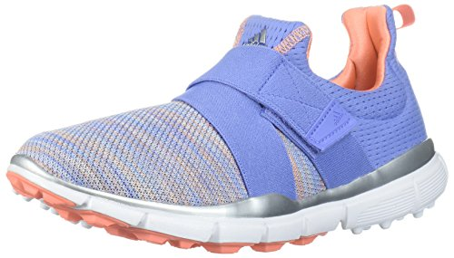 adidas Women's Climacool Knit Golf Shoe, Chalk Purple/Blue/Coral s, 9.5 M US | Golf
