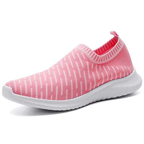 KONHILL Women's Lightweight Walking Shoe - Casual Mesh Tennis Slip-on Sneakers | Walking