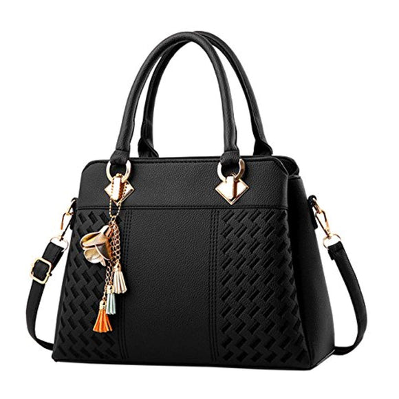 Fantastic Zone Womens Purses and Handbags PU Leather Ladies Designer Satchel Tote Bags Top-Handle Bags Fashion Handbags for Women