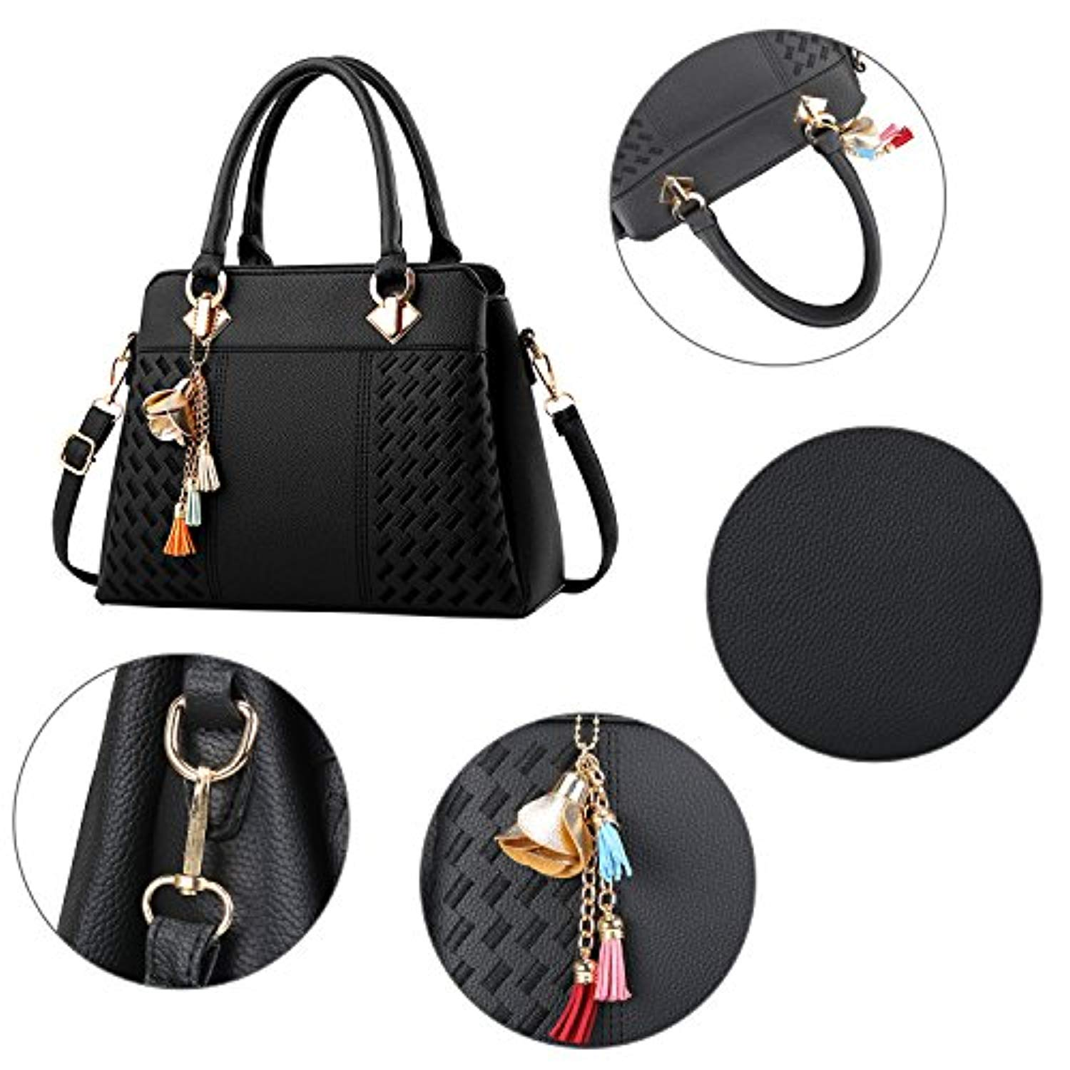 1e2b65dd85 ... Fantastic Zone Womens Purses and Handbags PU Leather Ladies Designer Satchel  Tote Bags Top-Handle ...