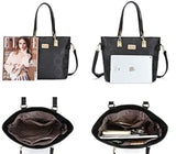 Women Shoulder Handbag for Work Purse 6 Piece Set Bag