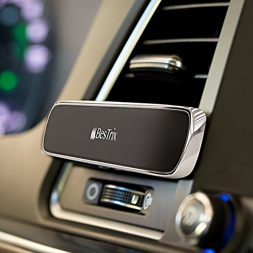 Bestrix Magnetic Phone Holder For Car Air Vent, Super Strong Magnet, Elegant & Luxury design for iPhone X,8/7/6/6s Plus, Samsung Galaxy S6/S7/S8/S9/ Plus & All Smartphones & Mini Tablets