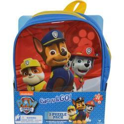 Paw Patrol 3pk Puzzle in Shaped Backpack