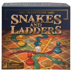 "Snakes & Ladders 13.5""x13.5"" Board Game in Box"