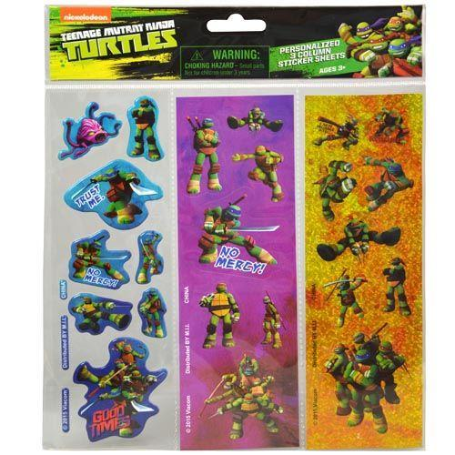 TMNT 3 Column Sticker in Poly Bag & Header