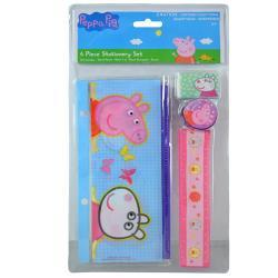 Peppa Pig 4pc Stationery Set in Bag w/Header