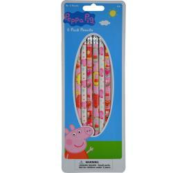 Peppa Pig 6pk Wood pencil on Reverse Blister Card