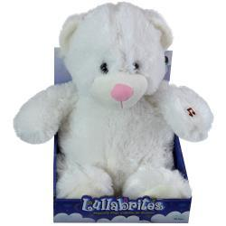 "Lullabrites 12"" White Bear in Box "" As Seen On TV"""