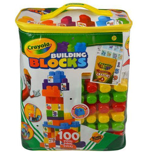 Crayola Kids @ Work 100 Tote with 90 Blocks, 8 Crayons, and 2 Decal Sheets
