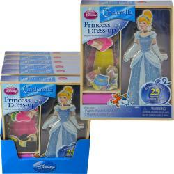 Disney Princess Cinderella Magnetic Wooden Dress-Up Doll (includes 25 Magnetic Clothing Pieces)