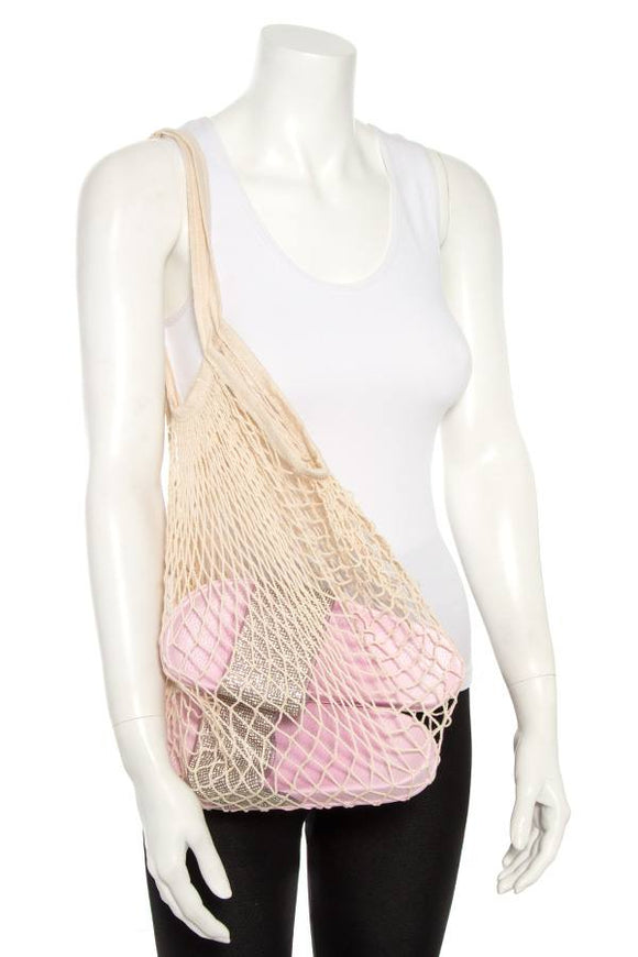 Fishnet beach handabag