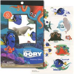 Finding Dory 4 Sheet Tattoo Book