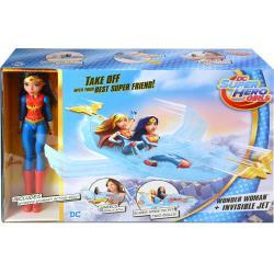 Mattel DC Super Hero Girls Wonder Woman Doll and Invisible Jet DCC