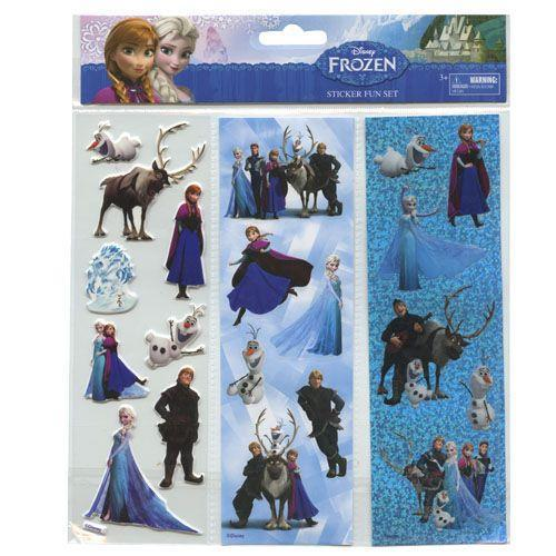 Frozen 3 Column Sticker in Poly Bag & Header