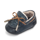 High quality anti-slip leather toddler shoes