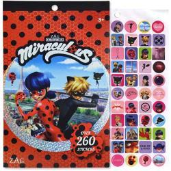 Miraculous LadyBug 4 Sheet Foil Cover Sticker Pad, 200+ Stickers