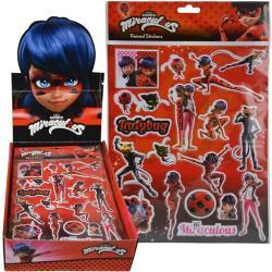 Miraculous Ladybug Raised Sticker Sheet in Poly Bag with a Header Card in Display