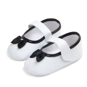New arrival bow design beautiful princess baby girl shoes 2018