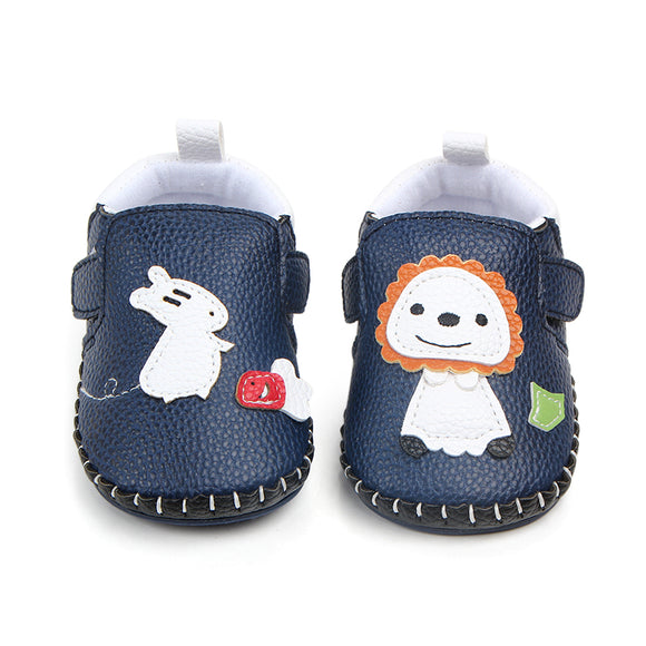 New arrival cute animal leather baby shoes prewalker shoes