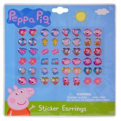 Peppa Pig 24 Pair Sticker Earrings on Blister Card